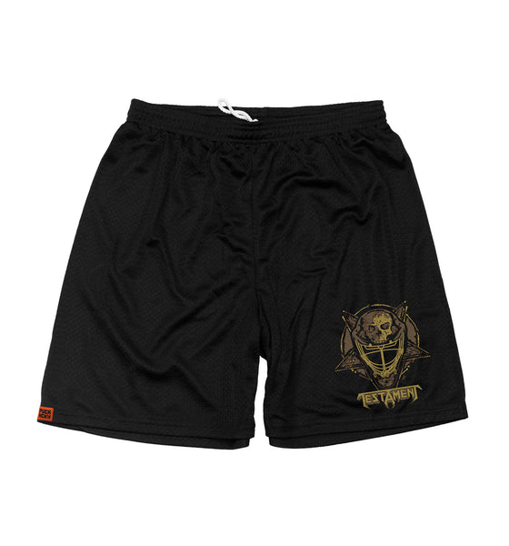 TESTAMENT 'OFF-ICE mesh hockey shorts in black