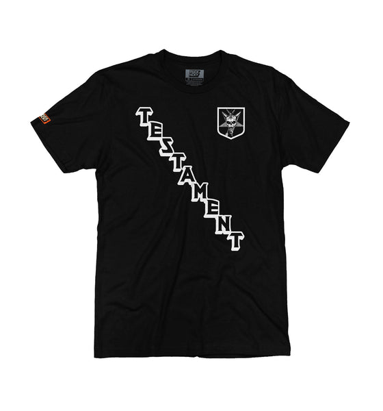 TESTAMENT 'ON THE DIAG' short sleeve hockey t-shirt in black