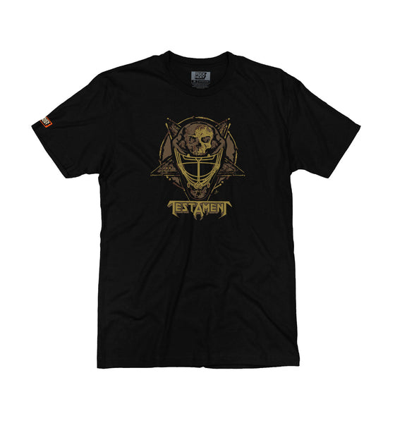 TESTAMENT 'TESTA MASK' short sleeve hockey t-shirt in black