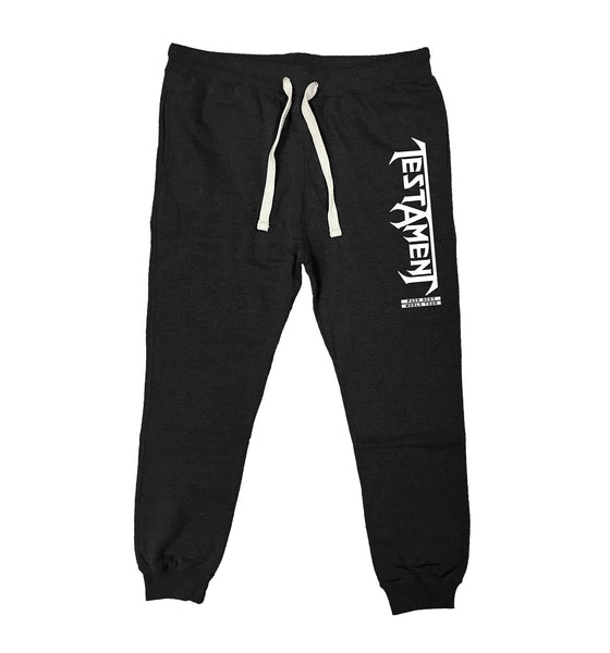 TESTAMENT 'WORLD TOUR' performance hockey jogging pants in black heather