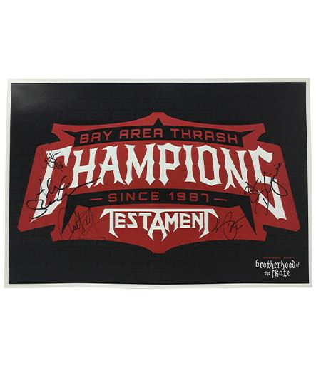 TESTAMENT 'CHAMPIONS' autographed hockey poster