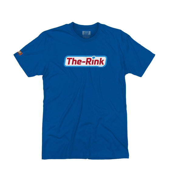 THE RINK 'BASIC LOGO' short sleeve hockey t-shirt in royal blue