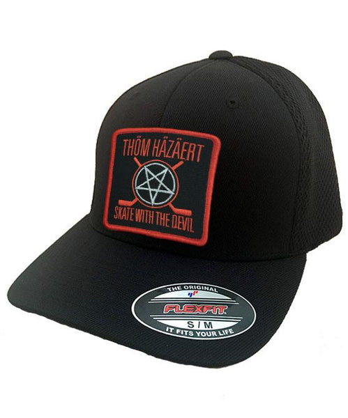 THOM HAZAERT 'SKATE WITH THE DEVIL' mesh back hockey cap in black