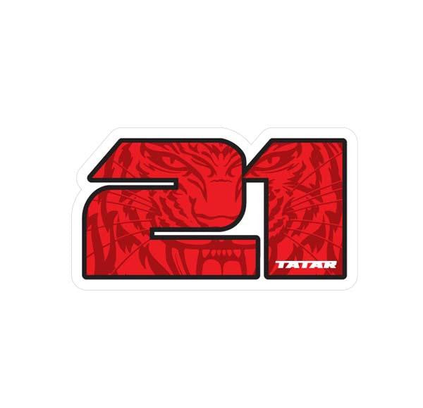 TOMAS TATAR '#21' hockey sticker