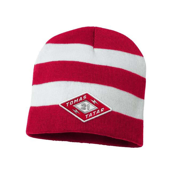 TOMAS TATAR 'DIAMOND' rugby striped knit hockey hat