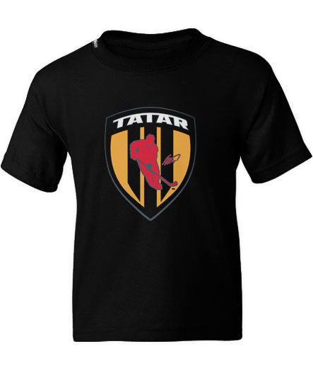 TOMAS TATAR 'SHIELD' youth short sleeve hockey t-shirt in black