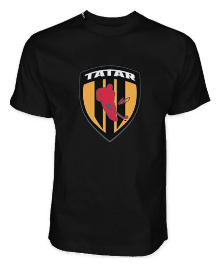 TOMAS TATAR 'SHIELD' short sleeve hockey t-shirt in black