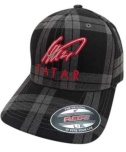 TOMAS TATAR 'SIGNATURE PLAID' flex fit hockey cap in grey plaid
