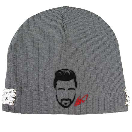 TOMAS TATAR 'TATAR ME' knit hockey beanie in grey