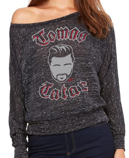 TOMAS TATAR 'TATAR ME 2.0' women's long sleeve, off-the-shoulder hockey top