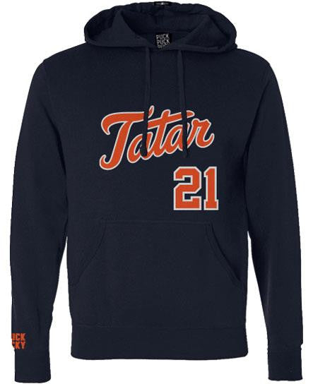 TOMAS TATAR 'TATTER UP' pullover hockey hoodie in midnight navy