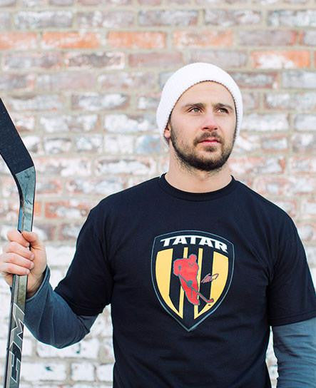 TOMAS TATAR 'SHIELD' short sleeve hockey t-shirt worn by Tomas Tatar