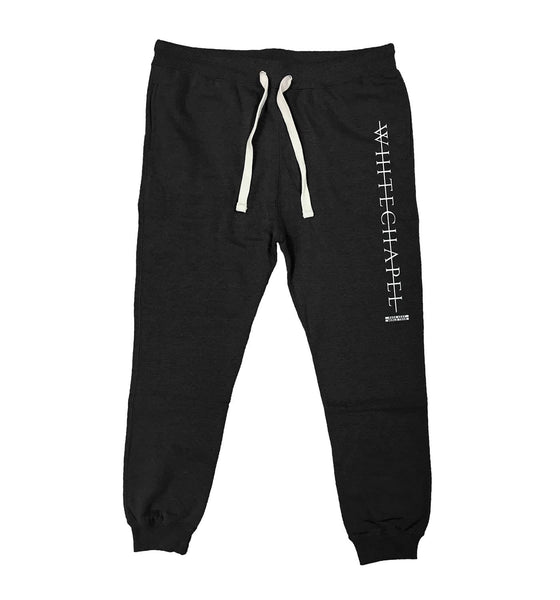 WHITECHAPEL 'MARK OF THE SKATE BLADE' performance hockey jogging pants in black heather