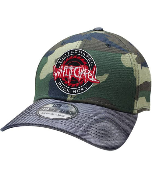WHITECHAPEL 'OFFICIAL PUCK' stretch fit hockey cap in camo with charcoal brim