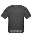 WMSHA 'LOGO' youth short sleeve hockey t-shirt in charcoal heather back view