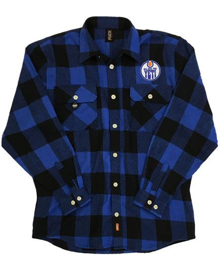ALL HAIL THE YETI 'OIL HAIL THE YETI' hockey flannel in blue plaid