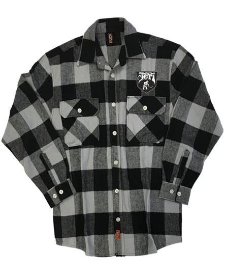ALL HAIL THE YETI 'ABOMINABLE' hockey flannel in grey plaid