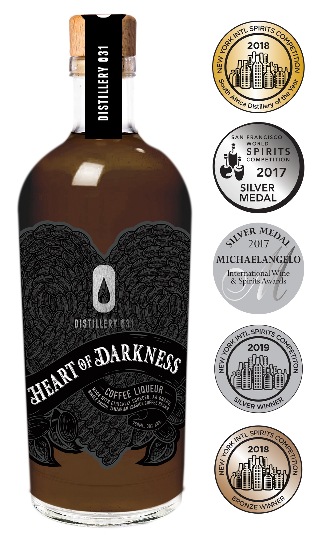 Heart of Darkness Coffee Liqueur 750ml (Distillery 031)
