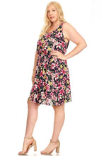 Load image into Gallery viewer, Floral Sleeveless Dress 3X