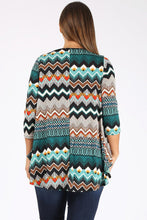 Load image into Gallery viewer, Mult Aztec Tunic 3x