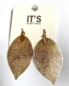 Leaf laser cut earrings