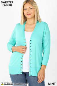Snap Button Cardi xl/1x