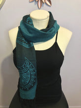 Load image into Gallery viewer, Teal Rob Duguay Scarf