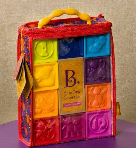 BATTAT - Toy cubes for children One Two Squeeze
