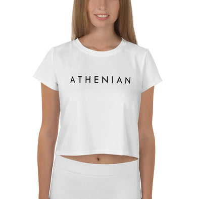 All-Over Print Crop Tee - Athenian Fitwear