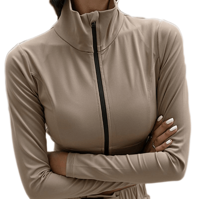 The Odyssey Zip-Up Crop - Athenian Fitwear