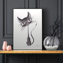 Load image into Gallery viewer, Black Cat Fine Art Print