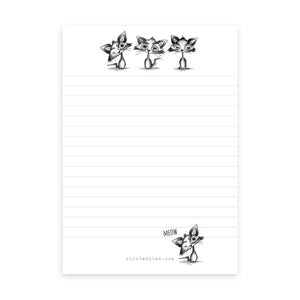 Gothic Cat Notepad - Lined