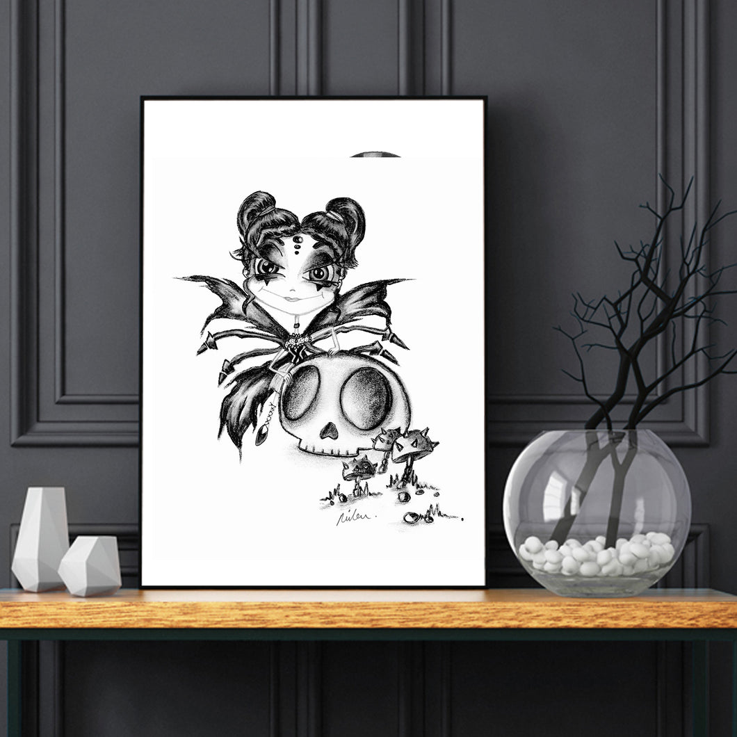 Dark Fairy Downloadable Print