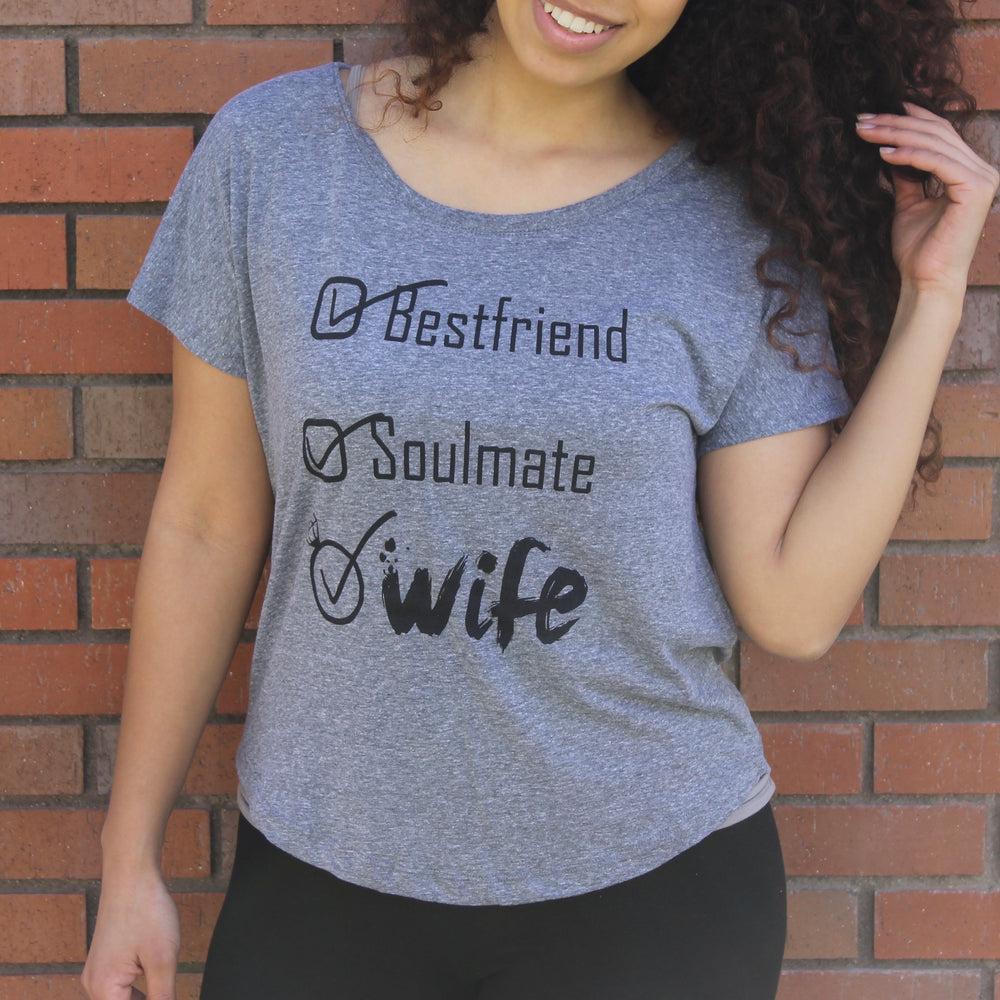 PREMIUM HEATHER WIFE CHECKLIST DOLMAN