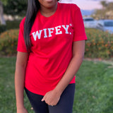 RED CERTIFIED WIFEY TEE