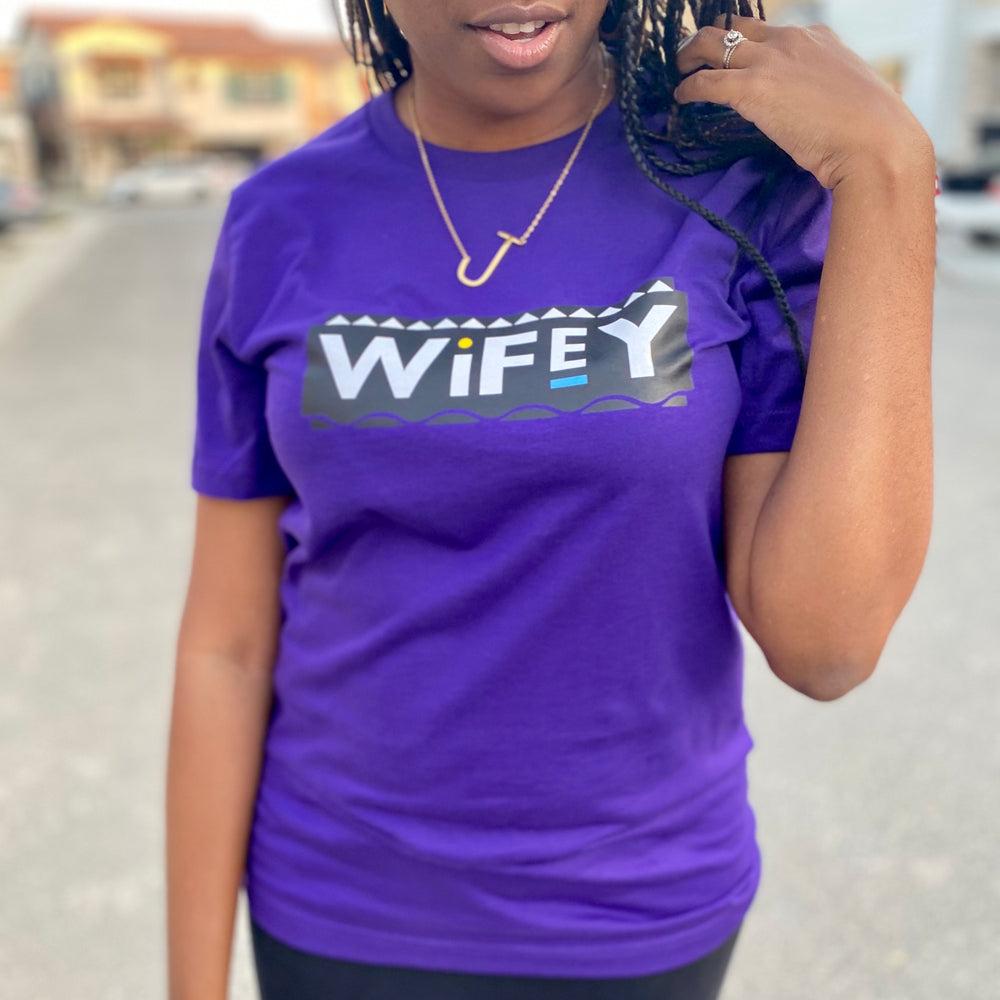 PURPLE 'YOU SO WIFEY' TEE