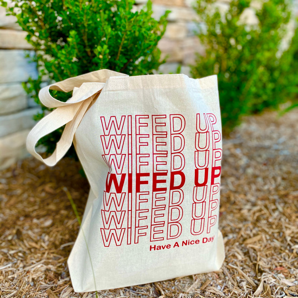 'WIFED UP, THANK YOU' TOTE BAG