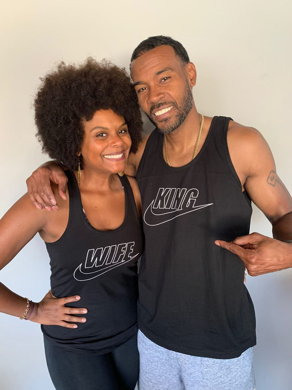 TAB AND CHANCE EDITION: KING/WIFE SPORT COUPLES TANKS