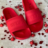 RED HERA 'WIFEY' SLIDES SANDAL