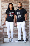 BLACK 'PRAYED FOR HIM' COUPLES SET