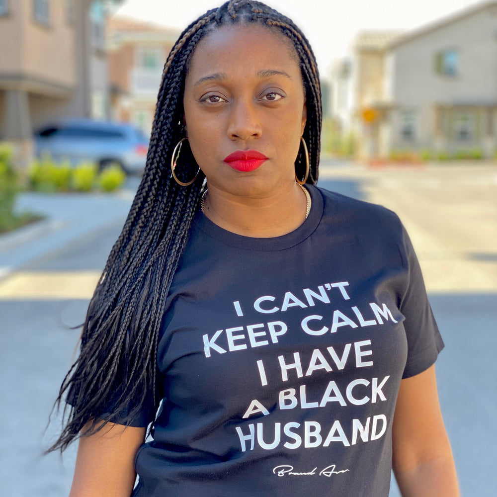 'BLACK HUSBAND' CAN'T KEEP CALM TEE