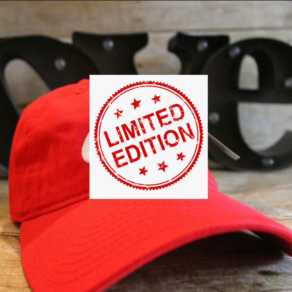 EXCLUSIVE CANDY RED WIFE LOGO DAD HAT