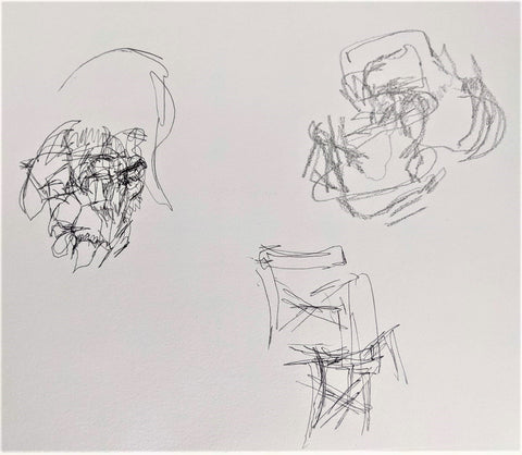 Quick drawing exercise without looking at your paper