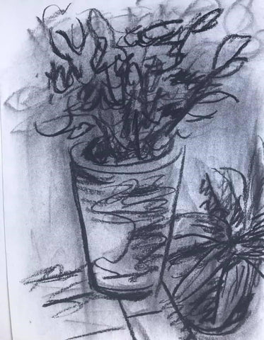 Charcoal and tissue technique