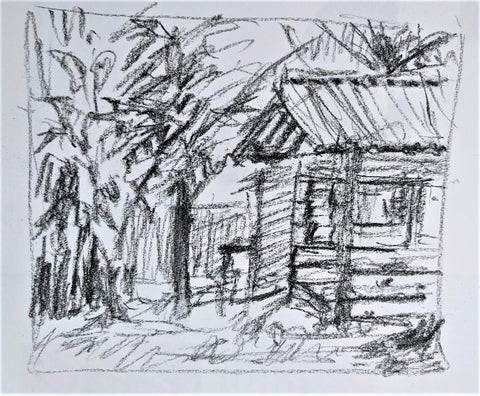 drawing exercise, plein air