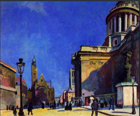 The Pantheon and St. Etienne-du-Mont by Raoul Dufy, 1904.