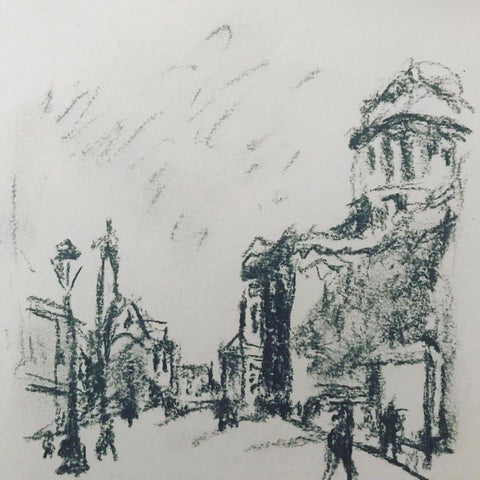 copy of The Pantheon and St. Etienne-du-Mont by Raoul Dufy, 1904.