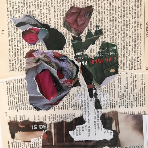 Collage after Berthe Morisot, Peonies