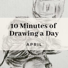 10 minutes of Drawing a day, exciting drawing exercises for everyday of the month