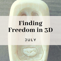 Finding Freedom in 3D, experimental exercises in sculpture and 3d work